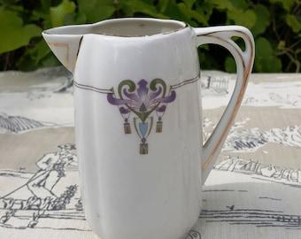 Pretty Art Nouveau Porcelain Jug Austrian or German / Antique or Vintage Secession Jug