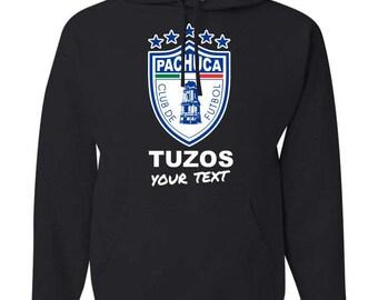 Pachuca Tuzos Hooded Sweatshirt Hoodie Hoody Sudadera With Custom Text(optional)