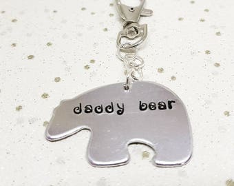 Daddy Bear Keyring, Fathers Day Keyring, Fathers Day Gift, Fathers Day Gift, Bear Gift, Fathers Day Idea, Gifts for Him, Personalised Gift