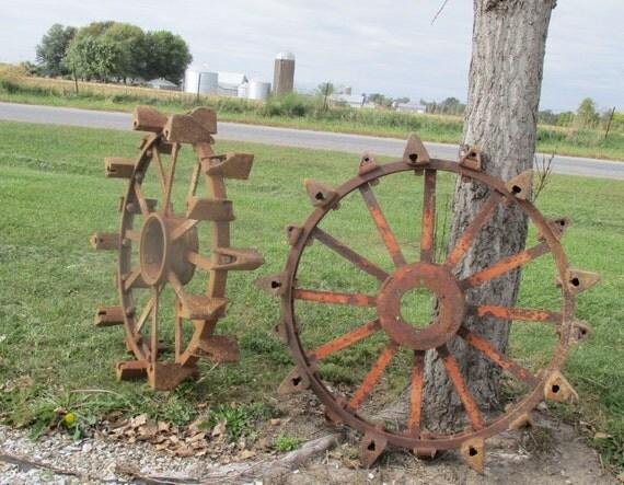 Antique Tractor Steel Wheels : Steel wheels tractor tires vintage implement by