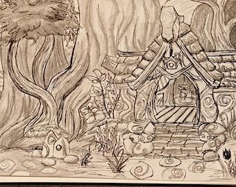 Val'sharah - World of Warcraft Original Drawing