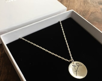 Cow Parsley Silver Pendant