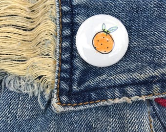 "1"" Button - Orange"