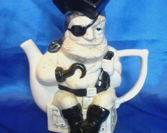 "Vintage Toby Jug Teapot ""Captain Hook the Pirate"""