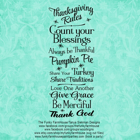 "SVG, & PNG - ""Thanksgiving Rules"""