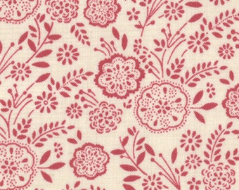 Item # 13634 19 Moda Fabric La Belle Fleur Collection by French General. 1/2 Yard Cuts Vintage French Designs.