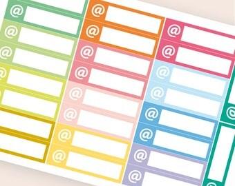 26 blank stickers, mail bar sticker, box stickers, blank label, planner stickers, scrapbook reminder erin condre happy planner stickers