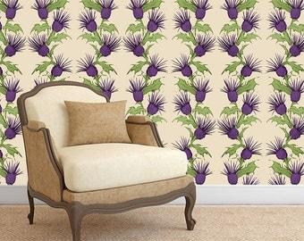 Thistle Print Self Adhesive Wallpaper - WP801