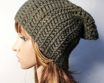 Brown Grey LILI Crocheted Hat - Hand Made Crocheted Hat -  Brown Grey Hat - Woman Hat - Ready To Ship