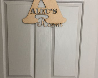 Alphabet Bedroom Door Name Signs (Un- decorated)