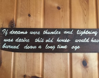 Reclaimed Wood Sign// Romantic Quote on wood// Wood sign for home