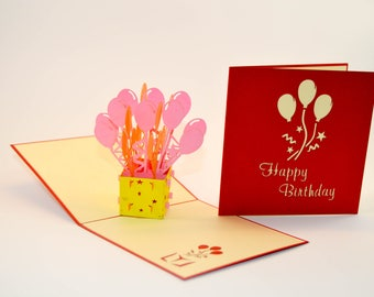 Birthday Card - Happy Birthday Card - Pop Up Card - Greeting Card - Birthday Card - Card for a Birthday - Greetings