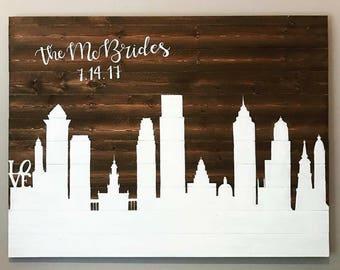 City Skyline Wedding Guestbook