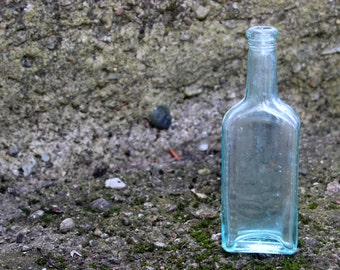Vintage Glass Bottle,  Blue Glass Bottle, Vintage bottles, Glass Bottle, Castoria Bottel