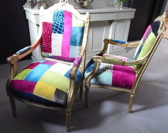 Patchwork chairs Keepsake Memory chairs