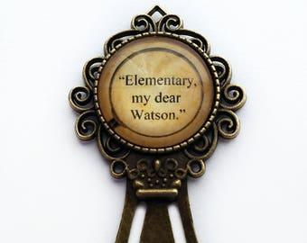 """Sherlock Holmes """"Elementary, my dear Watson."""" Bookmark"""
