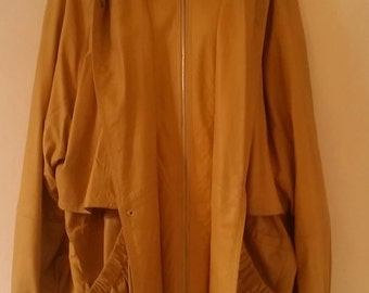 jellow lether coat (vintage)