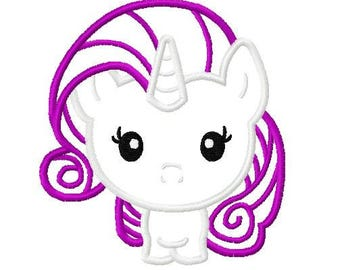 Character Inspired Mi Lil Poney Cutie Glamour Embroidery Applique Design