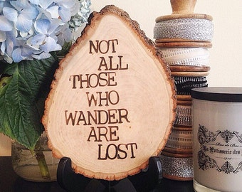 Not All Who Wander | JRR Tolkien Quote | Wall Art | Wanderlust