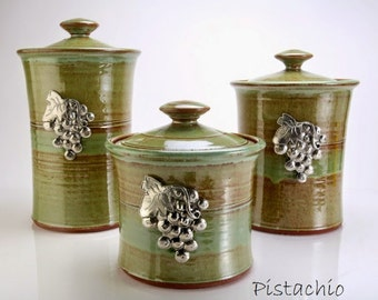 Pistachio vineyard canister set