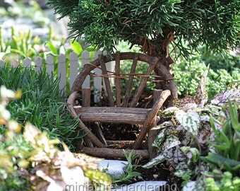 Vine Twig Bench for Miniature Garden, Fairy Garden