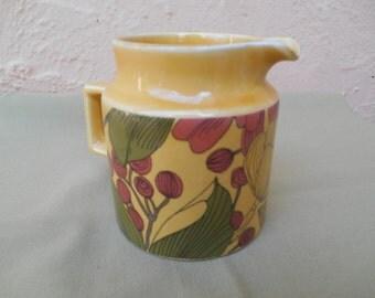 Vintage Jug. Surrey Ceramics, Retro Mustard Yellow, Mid Century Jug