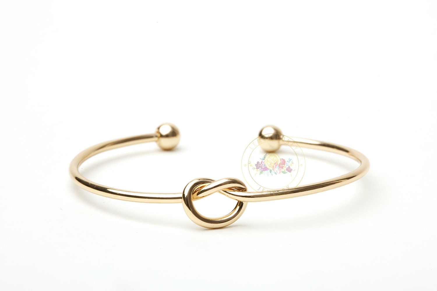 Gold Bridesmaid Gift Bracelet Gold Tie The Knot Bangle Maid