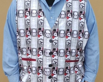 Custom Character Vest- You Pick the Fabric!