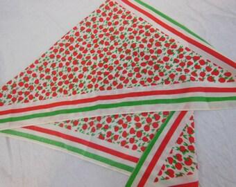 Cotton Scarf / Babooshka - Vintage Apple Print