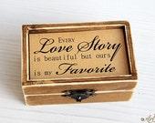 Ring Bearer Box, Wedding Ring Box, Personalized Ring Box, wedding ring holder, Ring Bearer Box Proposal, Bearer Box, Wood Box Rustic wedding
