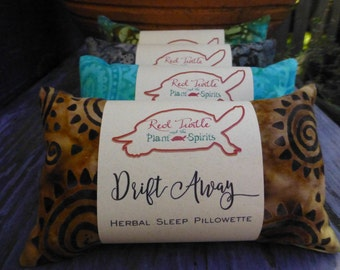 Herbal Sleep Pillow with Lavender, Hops, Chamomile and Rose - Batik Series, 3 x 5 inches