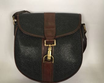 Vintage Mulberry Scotchgrain Leather Shoulder Bag