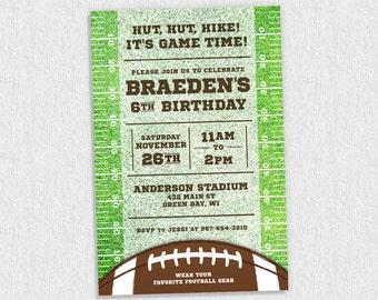 Football Birthday Invitation | Football Birthday Party Theme