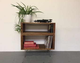 Stacked Sideboard Console Storage Unit, ideal for vinyl records, books and cocktails, 80cm Wide
