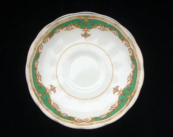Mid Century Grindley Cream Petal Green Janique Saucer 5.75 inches Replacement
