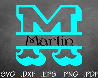 Carnivale Split Font Design Files, Silhouette Studio, Cricut Design, Brother Scan Cut, Scal, DXF Files, SVG Font, EPS File, Initial Split