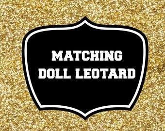 Matching doll leotard