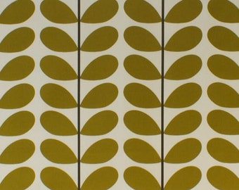 Orla Kiely Two Colour Stem Olive Curtain Blind Upholstery Craft Fabric
