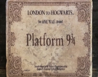 Harry Potter Hogwarts Express Ticket Coaster or Decor Accent