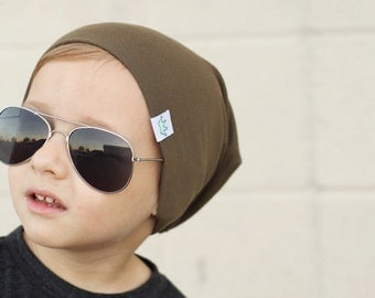 Olive slouchy baby beanie / Hipster beanie hat / Hipster baby beanie boy / Toddler slouchy beanie / Baby slouchy beanie / Toddler beanie