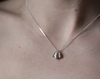 Bespoke Solid Sterling Silver Baby Milk Tooth Charm Necklace