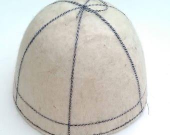 Sauna wool hat. Wool hat. Handmade sauna hat. Felted hat for sauna.100% natural sheep wool hat. Most popular item.
