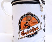 Vintage Baltimore Orioles '30th Anniversary World Champions' Insulated Zippered Tote, 1980's