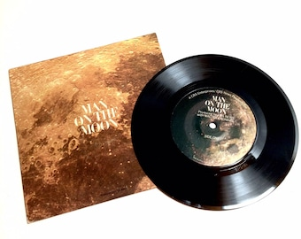 Vintage 'Man on the Moon' Original Vinyl Recording of Walter Cronkite's Apollo 11 Lunar Landing Broadcast, c. 1969