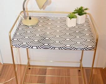 Magazine rack, nightstand, shelf, vintage, 50's