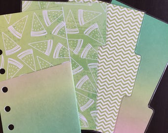 Filofax Pocket sized Kikki K Small Planner Dividers Set of 3 Bonus Pocket