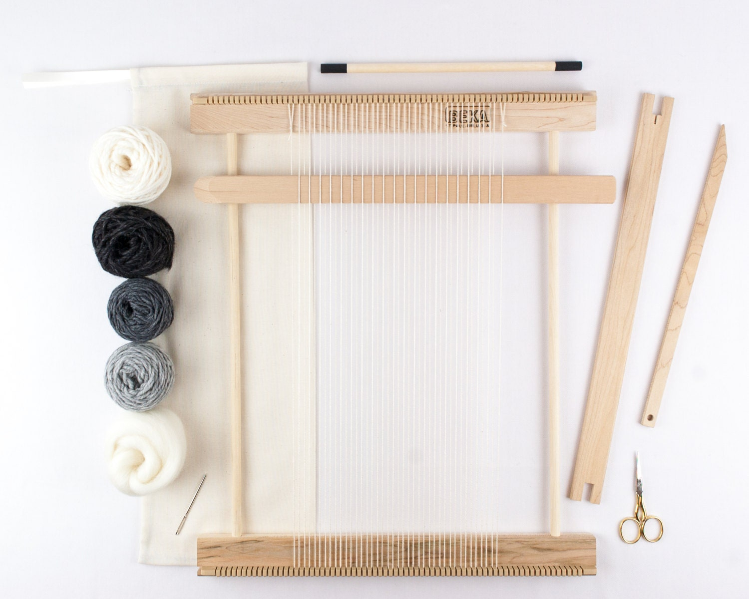 Wall Art Loom Kit : Quot beginners frame loom weaving kit everything you need