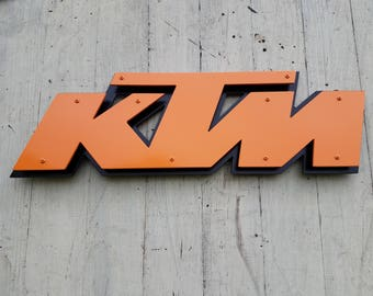 "KTM Steel Sign / Wall Art - 20"" x 7"" (Version 1)"