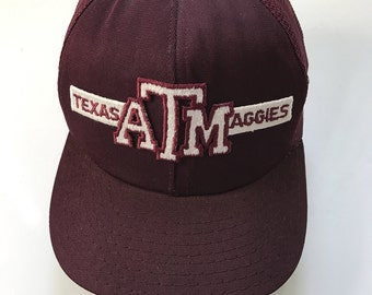 Vintage Texas A&M Aggies NCAA Snapback Trucker Hat