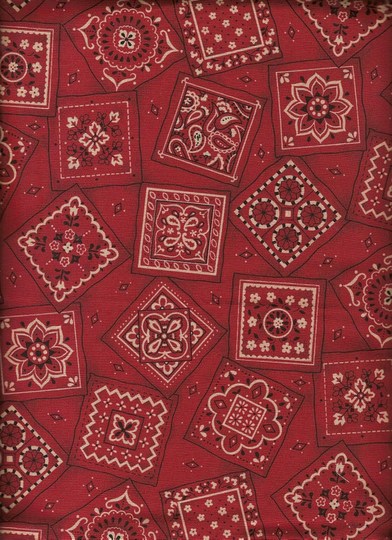 Red Bandana Quilt Fabric / Cranston Print Works By the Yard ... : red bandana quilt - Adamdwight.com